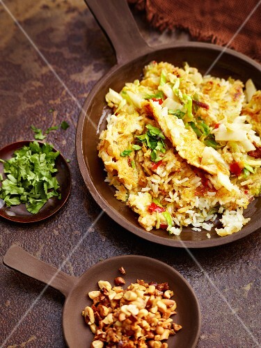 Fried rice with leek