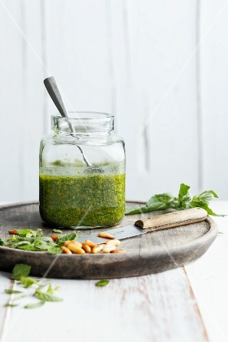 Pesto with spring herbs