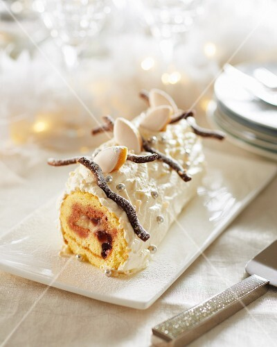 Buche de Noel (Jule Log cake, France)