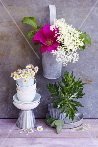 An arrangement of summer flowers