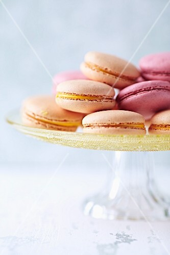 Macaroons on a cake stand