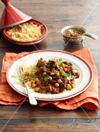 Lamb tagine with dates and pomegranate