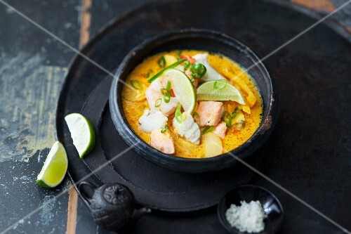 Thai curry with fish and seafood (Thailand)