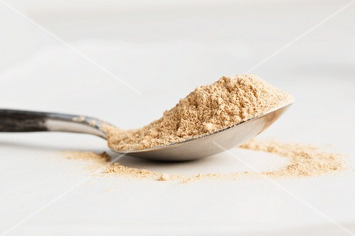 A spoonful of maca powder
