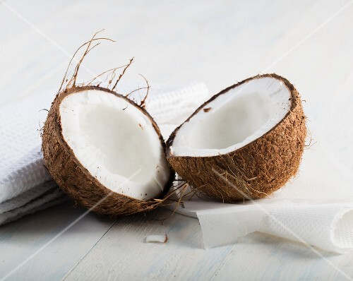 Coconut, halved