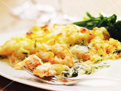 Fish pie (Baked fish dish with mashed potato topping)
