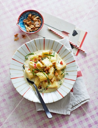 Gnocchi with a Gorgonzola sauce and caramelised walnuts