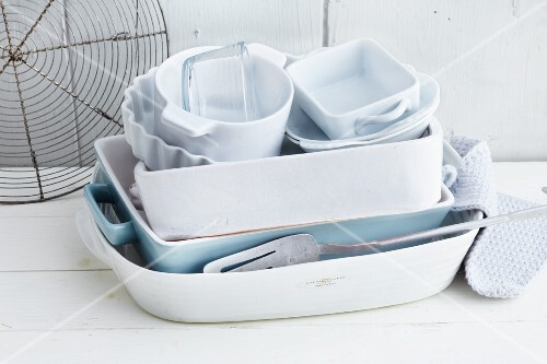 Various oven-proof dishes