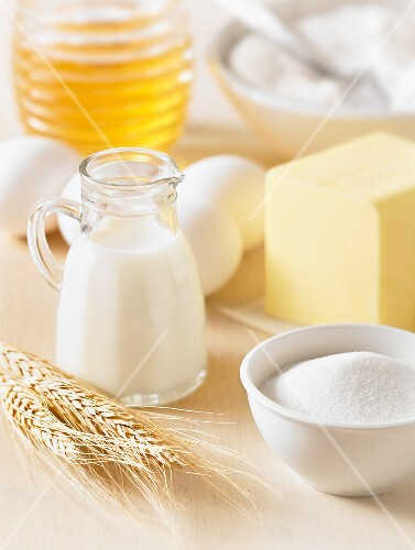 Dairy products, sugar, eggs and honey