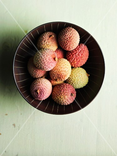 A ball of lychees