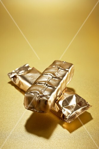 Gilded chocolate bars