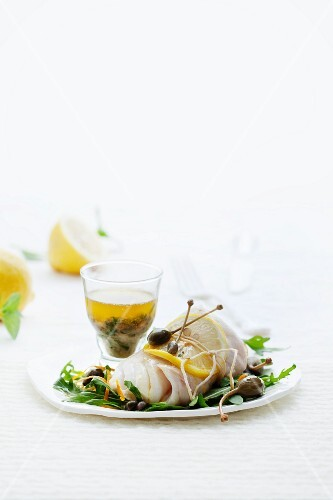 Fish with capers and lemons