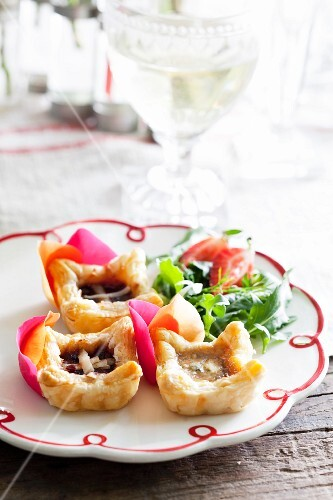 Three cheese tartlets