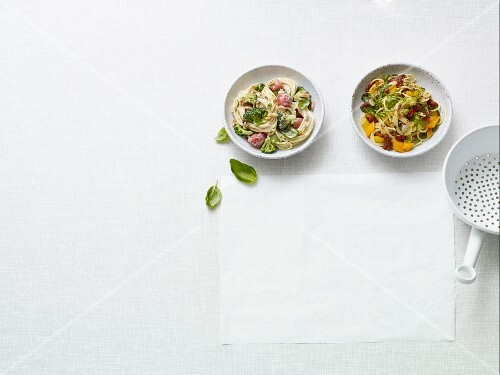 Two fast vegan pasta dishes