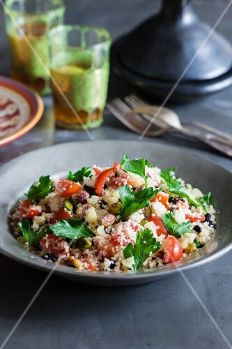Couscous with preserved lemons, tomatoes and parsley