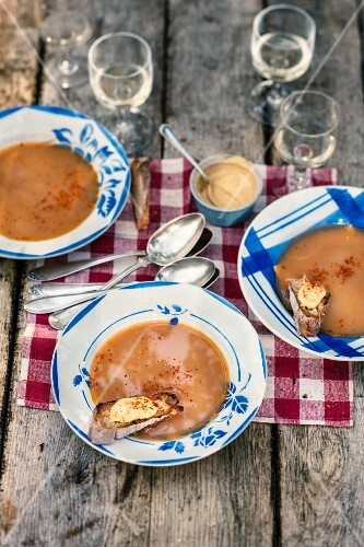 Fish soup with rouille (Provence, France)