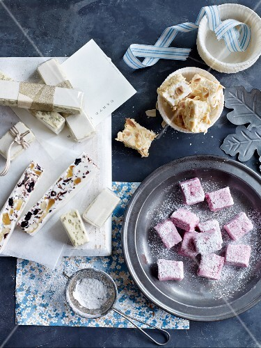 Homemade confectionery: marshmallows and turron