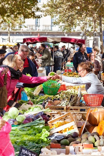A market in Carcassonne (Southern France)