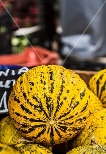 Melons at a market