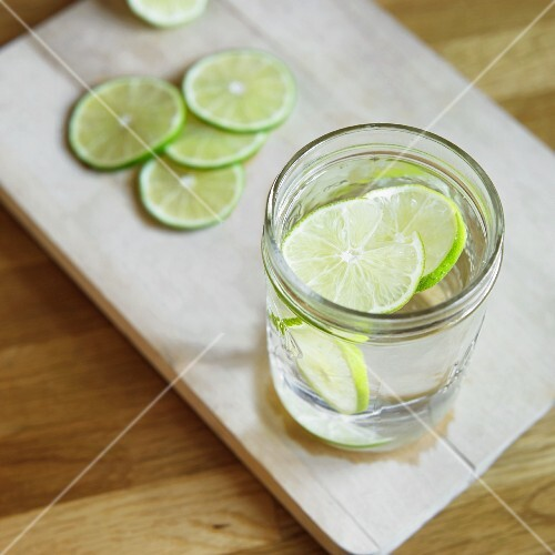 Water with slices of lime
