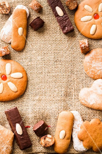 Gingerbread on a hessian sack
