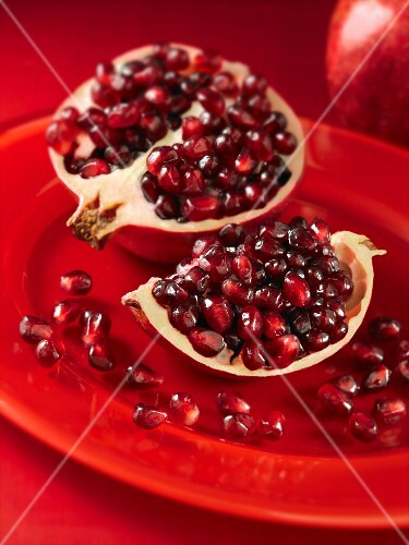 A sliced pomegranate