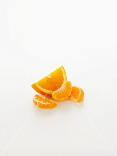 An orange wedge and segments