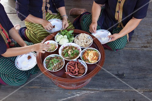 A family meal, Thailand