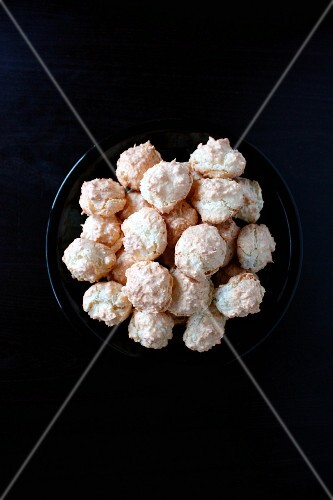 Coconut macaroons on a plate