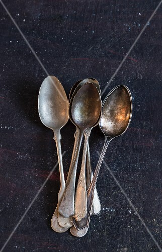 Old silver spoons
