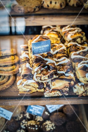 Cinnamon buns at the Torvehallerne market in Copenhagen
