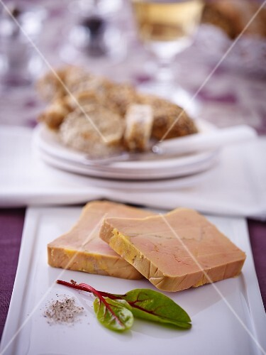 Two slices of goose liver pate