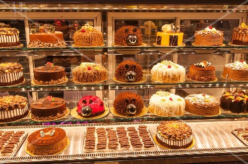 Sweet and cakes in a shop in Trabzon, Turkey