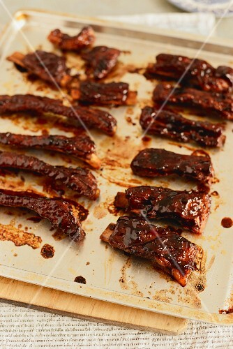 Glazed pork ribs from Singapore