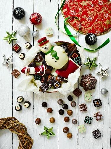 Various Christmas sweets and pralines