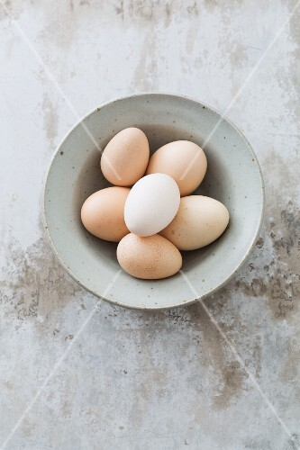 A bowl of eggs (seen from above)