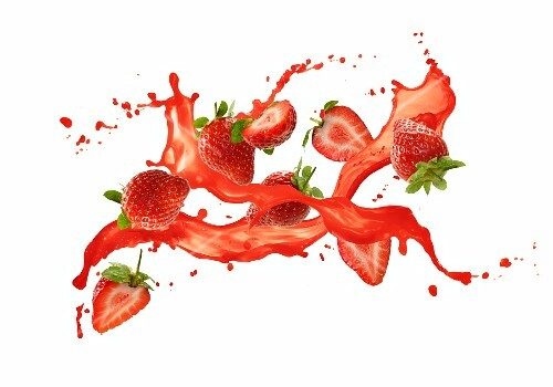 Strawberries with a splash of juice