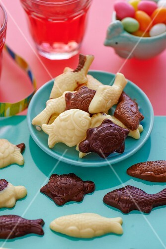 Chocolate fish and turtle for Easter