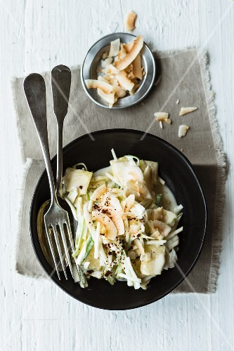 Oriental Waldorf salad with celeriac and pineapple