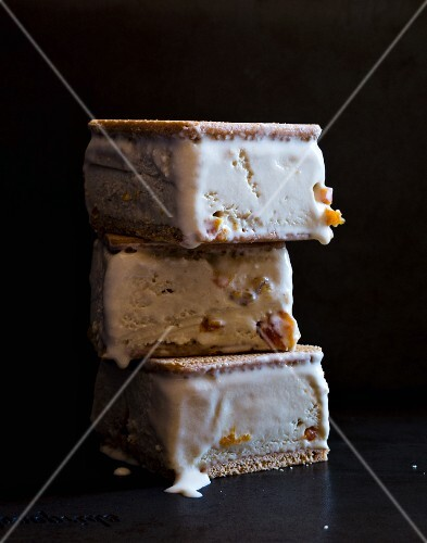 A stack of Earl Grey ice cream sandwiches