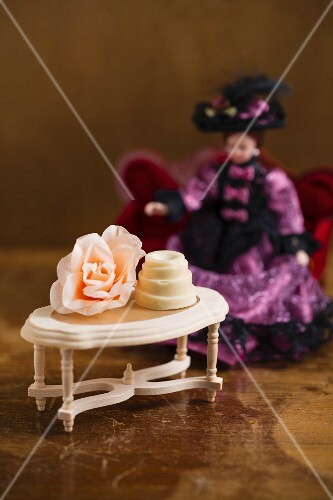 A praline on doll's house table