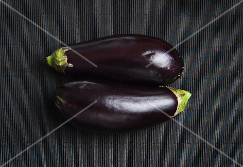 Two aubergines