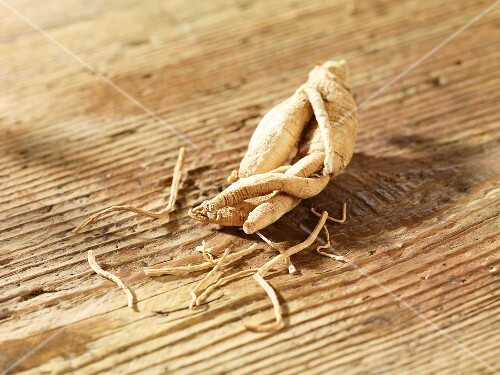 Ginseng on a wooden surface