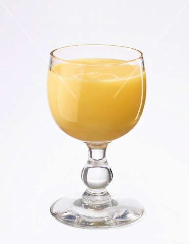A glass of egg liqueur