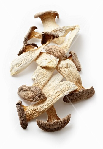 Dried king trumpet mushrooms