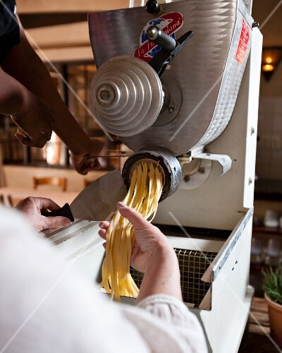 Tagliatelle being made in Café Paradiso, Cape Town