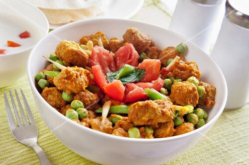 Soya chunks with vegetables