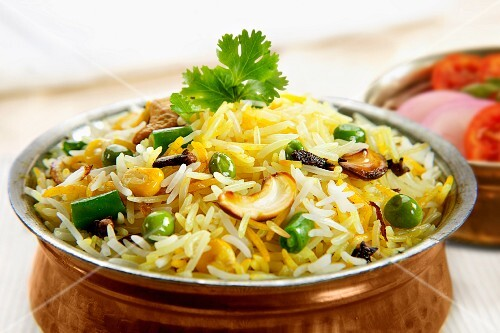 Veg pulao (vegetarian rice dish, India)