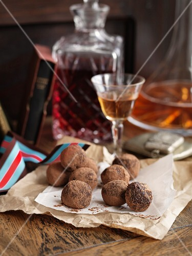 Truffle pralines and sherry