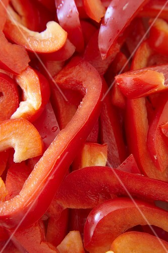 Sliced red pepper